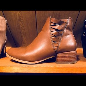 Ankle boots, brown leather